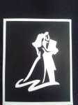 Wedding couple holding hands at the Altar  stencils for etching on glass    Wedding gift